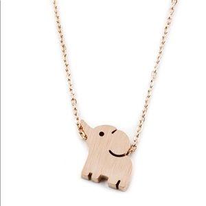 Toddler Girls Tiny Elephant Necklace